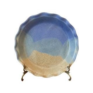 Artisan Stoneware Pie Dish Handmade by Nagata