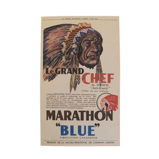 1932 Art Deco Montreal Native Chief Print