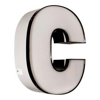 "Vintage White Channel Letter ""C"""