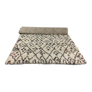Pottery Barn Teen Capel Diamond Print Shag Rug - 4′2″ × 5′9″