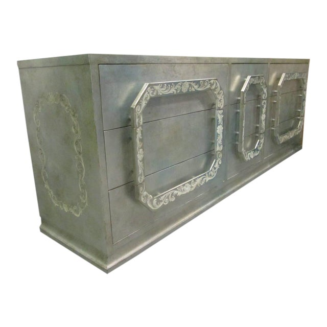 Silver Leaf Dresser in the style of James Mont - Image 1 of 8