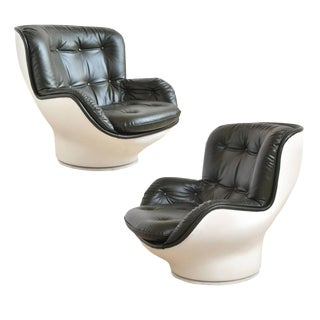 Pair of Michel Cadestin Lounge Chairs by Airborne