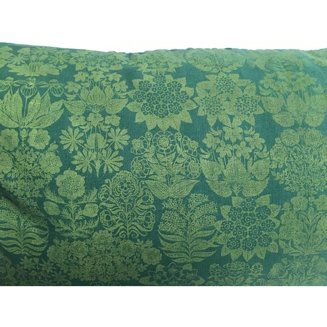 Folly Cove Designers Hand Block Printed Pillow with US State Flowers - Image 6 of 8