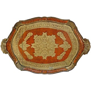 Large Florentine Wood Tray