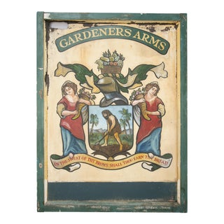 "English Pub Sign ""Gardeners Arms"""