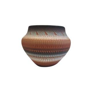 Vintage Navajo Native American Pottery Bowl