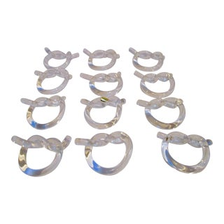 Dorothy Thorpe Lucite Napkin Rings - Set of 12