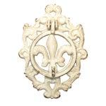 Vintage French Fleur de Lys Iron Door Knocker