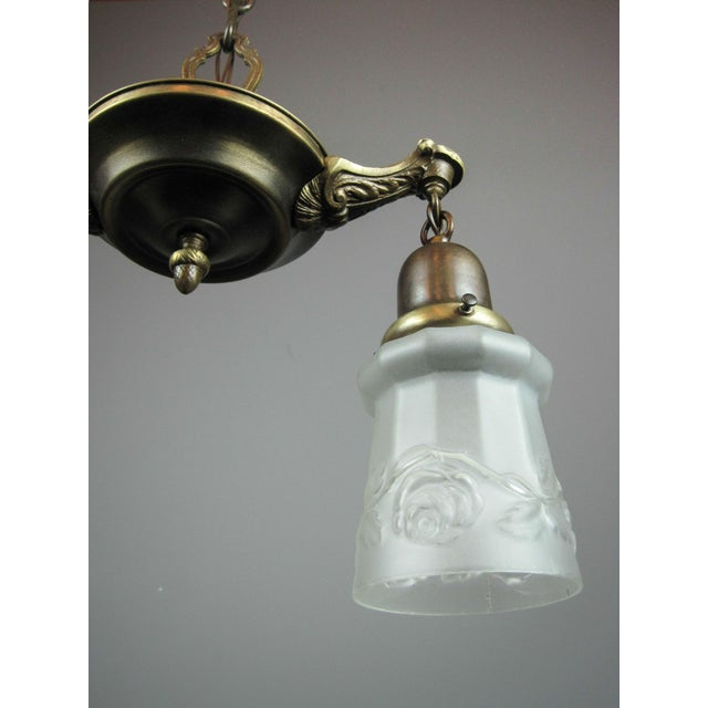 Original Pan Light Fixture (2-Light) - Image 6 of 9