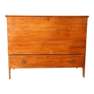 Early 19th C. New England Shaker Style Blanket Chest