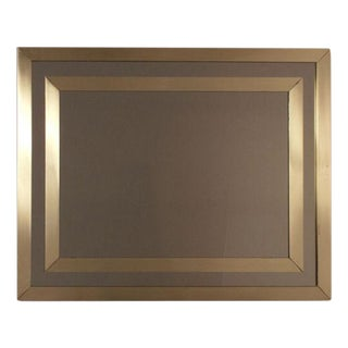 1970's French Modern Brass Mirror