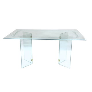 Pace-Style Mid-Century Glass Dining Table