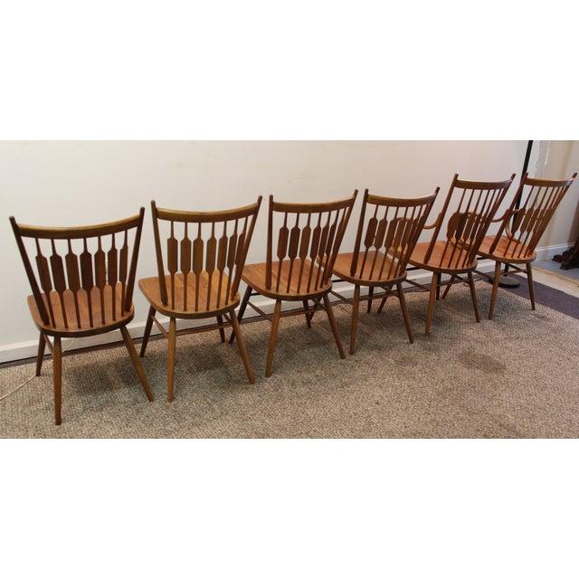 Kipp Stewart Paddle Back Chairs - Set of 6 - Image 5 of 11