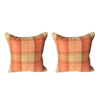 Zoffany Woodford Plaid Pillows - a Pair
