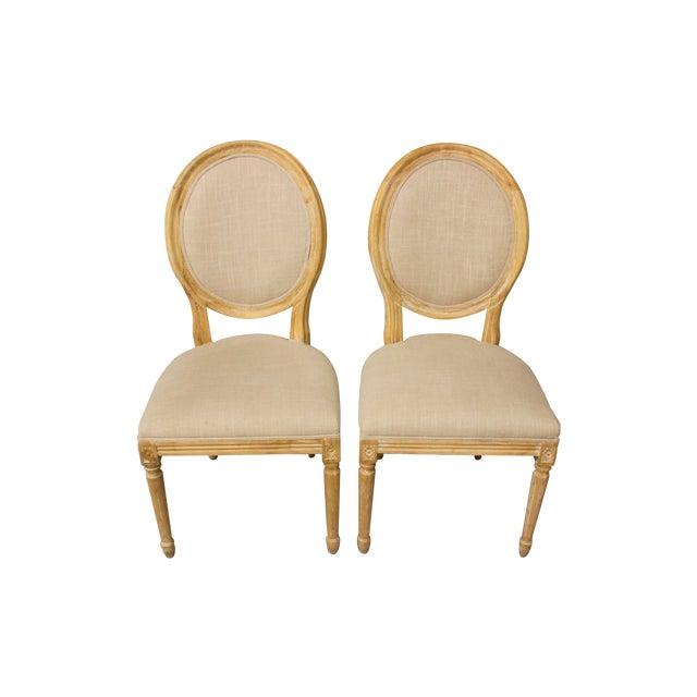 Image of Louis XVI Ballard Design Chairs - Pair