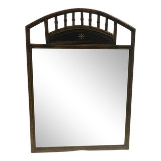 Tortoise Shell Faux Bamboo Mirror