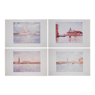 C. 1912 Lithographs of Venice by M. Menpes - Set of 4
