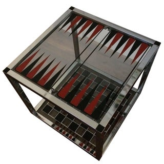 Backgammon And Chess Cube Table