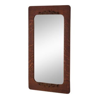 Late 19th c. American Dark Oak Mirror