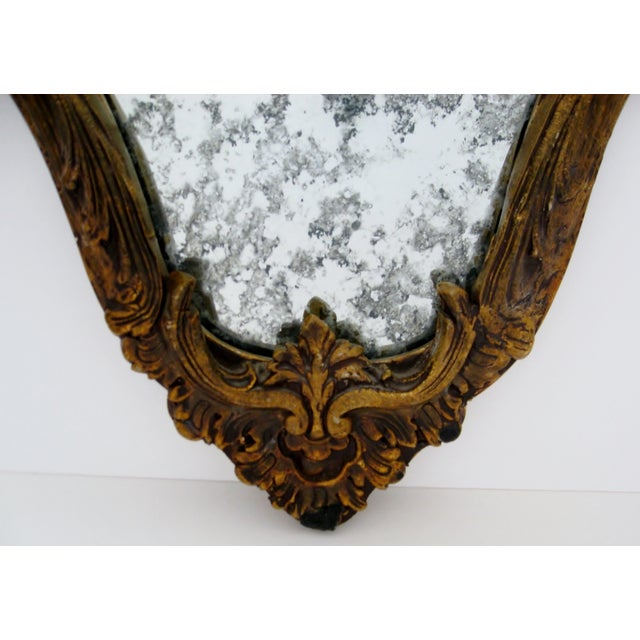 Image of Baroque-Style Wood Mirrors - A Pair