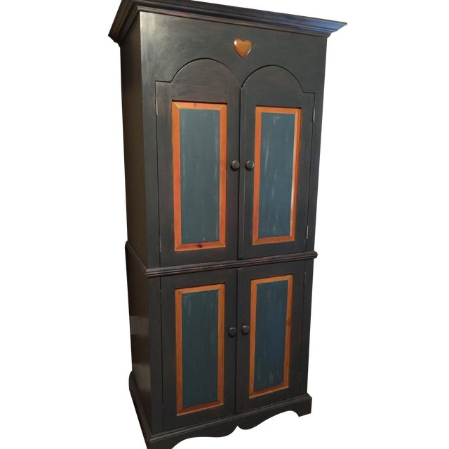 Image of Painted Pine Armoire/Entertainment Center