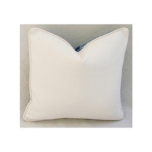 Custom Blue & White Batik Cotton/Linen Pillow - Image 4 of 4