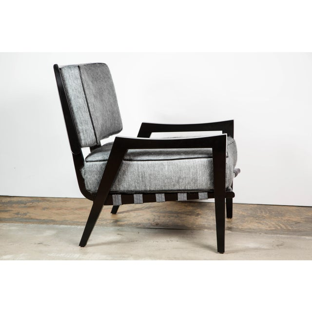 Image of Paul Marra Low Lounge Chair in Black Lacquer