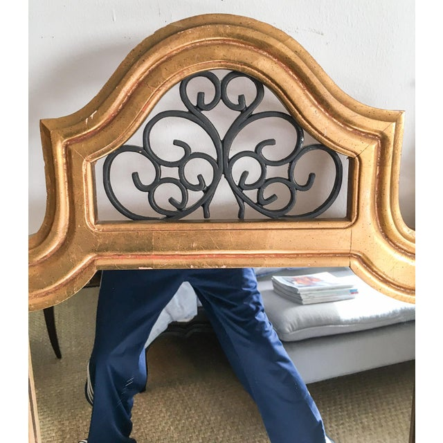 Vintage Italian Gilded Wood & Iron Mirror - Image 7 of 11