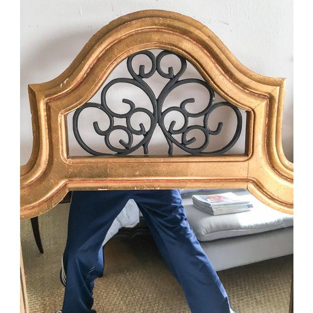 Image of Vintage Italian Gilded Wood & Iron Mirror
