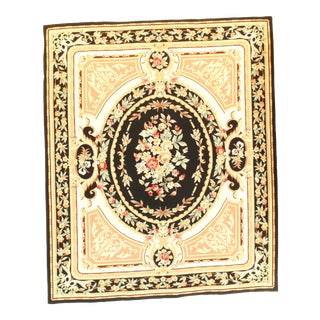 Pasargad NY French Aubusson Design Flat Weave Rug - 8′ x 9′7″