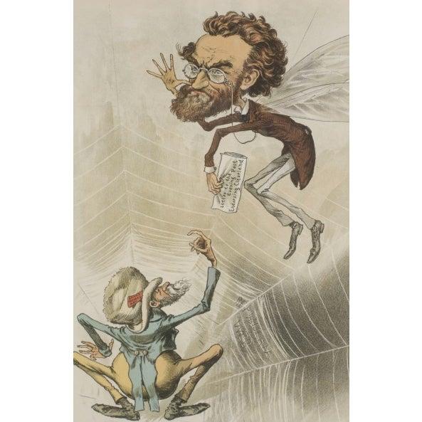 1888 Puck Political Cartoon Chromoliths - A Pair - Image 7 of 9