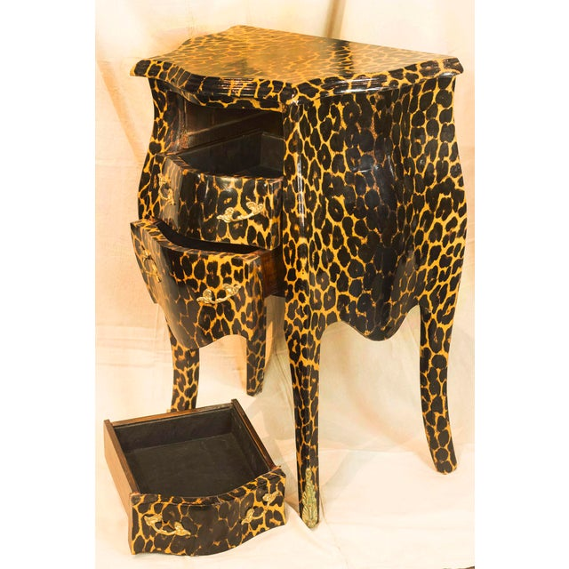 1920s Leopard Patterned Commode - Image 4 of 5