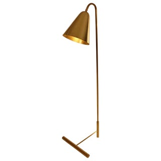 Customizable Brass Cone Shade Floor Lamp