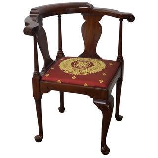Henkel Harris Queen Anne Corner Armchair