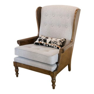 Vintage Pendelton Fabric Wingback Chair