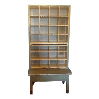 Vintage Industrial Post Office Sorting Cubby