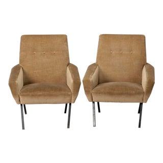 Marco Zanuso Style Italian Mid-Century Armchairs - A Pair