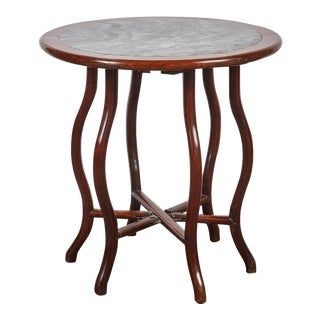Late 19th Century Chinese Round Rosewood Folding Table