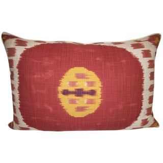 Oasis Ikat Accent Pillow in Rust