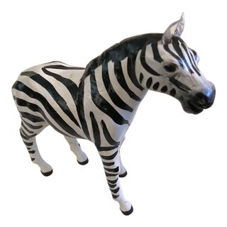 Vintage Papier Mache Zebra