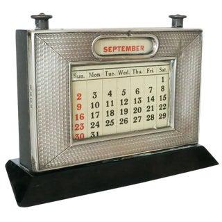 Silver Perpetual Desktop Calendar by W.J. Myatt & Co.