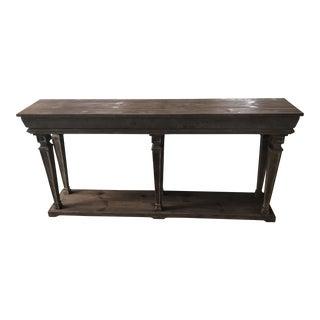White Oak Console Table