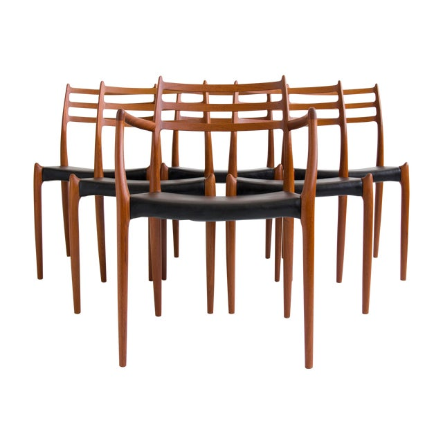Niels Møller #78 Dining Chairs - Set of 6 - Image 1 of 11