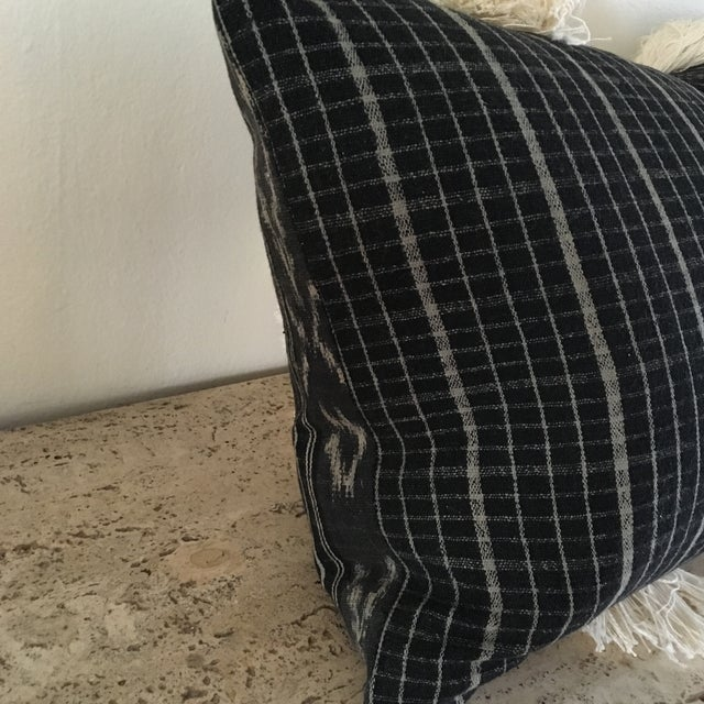 Vintage Sumba Ikat Fringe Pillow - Image 6 of 9