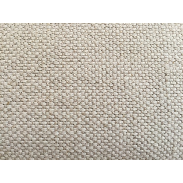 Modern Cotton/Linen Blend Couch with Chaise - Image 7 of 7