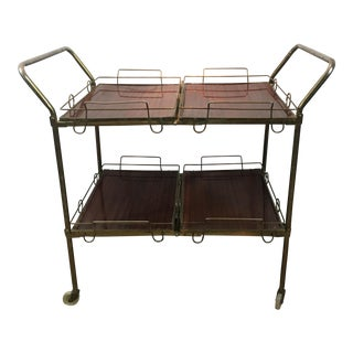 4-Tray Fold-Away Collapsible Server Bar Cart
