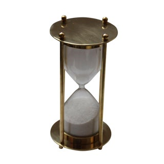 Brass Hourglass 5 Minute Sand Timer