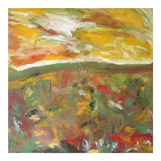 """Meadowscape"" Original Abstract Floral Landscape Painting"