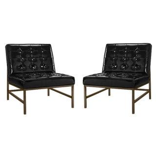 Modernist Slipper Chairs - a Pair