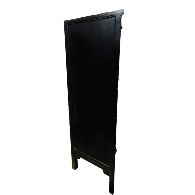 Black Lacquer Corner Armoire - Image 10 of 10
